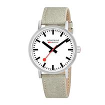 Mondaine Watch A660.30360.16SBG Mens Classic.Swiss Movement,Canvas Leather Strap