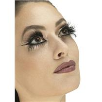 Long Black Wings Lashes Top and Bottom Fake False Eyelashes