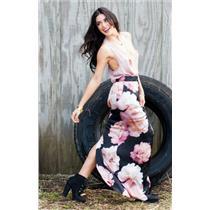 Sz S Show Me Your Mumu Cara-Van Petal Pink Satin Racerback Sleeveless Tank Top