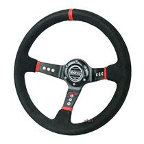 350mm SUEDE Leather Deep Dish Racing Steering Wheel Can Fit MOMO SPARCO Boss Kit