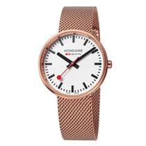 Mondaine Watch A763.30362.22sbm Rose Gold Plated Mens Mini Giant. Swiss Movement