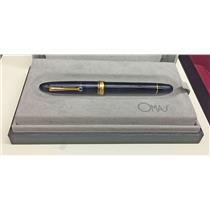 Omas Ogiva Vision Royal Blue Demonstrator w/Gold Trim Fountain Pen 18k B Nib