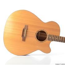 Danny Ferrington Baritone Acoustic Electric Guitar w/ Hardshell Case RARE #29671