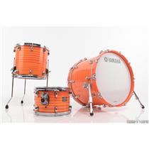 Yamaha Club Custom 3 Piece Drum Shell Pack Fusion Orange Swirl #29707