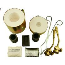 Mini Propane Gas Furnace Kit - Mold, Kiln, Flux, Tips, Crucibles, Tongs-Gold