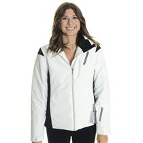 NWT Sz 6 Spyder Women's Prevail Ski/Snowboard Snow Ski Jacket in White/Black