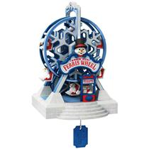 Hallmark Magic Ornament 2014 Snow Fun Ferris Wheel - Magic Cord Req. - #QGO1206