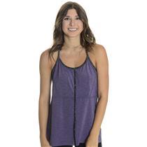 NWT XL Lija Womens Tenacious Strappy Back Tennis Tank in Plum Purple/Criss Cross
