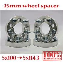 (4) 25mm Wheel Adapter Spacer Spacers 5x100 to 5x114.3 12x1.25 (5x3.94 to 5x4.5)