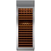 Sub-Zero 30 Inch 147-Bottle Capacity Stainless Steel Wine Storage BW30STHLH
