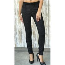 Size 27 Mother High Waist Looker Diamond In The Rough Black/White Skinny Jeans