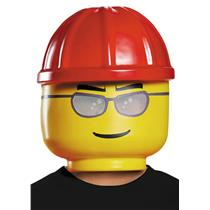 LEGO Construction Worker Plastic Costume Mask Child Size