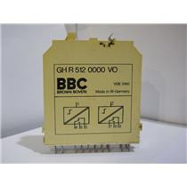 Brown Boveri BBC Delay Relay Module Logic Card GH R 512 0000 VO Used