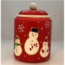 Hallmark 2011 Snowman and Snowflakes Ceramic Cookie Jar - Brand New - #AD4497