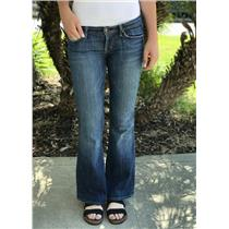Sz 28 Citizens of Humanity Ingrid Stretch Flare Low Rise Jeans in Pacific Wash
