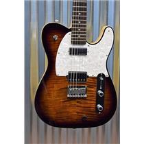 Michael Kelly Guitars MK55HTEB Hybrid 55 Tiger's Eye Burst Fishman & Case #17