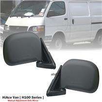 1 Pair Front Manual Door Side Mirror For Toyota Hiace H100 Series Van 1989-04