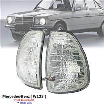 1 Pair White Front Corner Light Lamp For Mercedes Benz W123 230E 280E 1976-85