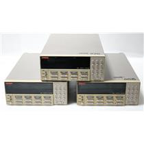 Lot of 3 Keithley 7001 80CH High Density Switch Mainframes