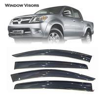 Car Door Window Visor Wind Deflector Weathershields For Toyota Hilux Vigo 05-14