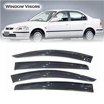 Car Window Door Visor Wind Deflector For Honda Civic 1996 Sedan Weathershield
