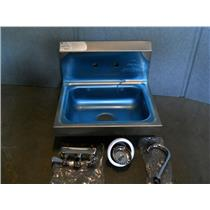 ADVANCE TABCO Stainless NSF Hand Sink, With Faucet, Wall Mounting Type Silver