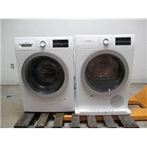 "Bosch 500 Series 24"" Front Load Washer & Dryer SET+ Stacking Kit White/Silver (7)"