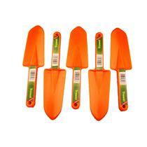 Lot of 5 Orange Trowel Scoop-Sand-Beach-Treasure Gold Ring Tough Durable Shovel