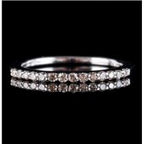14k White Gold Round Cut Diamond Wedding Anniversary Band / Ring .21ctw