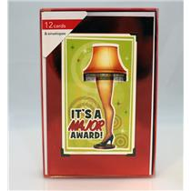 American Greetings Boxed Cards It's a Major Award - A Christmas Story - #4896-01