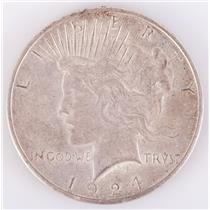 1924 US Peace Silver Dollar 1$ Circulated Condition 26.7g