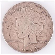 1934 US Peace Silver Dollar 1$ Circulated Condition 26.7g