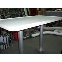 Boaters' Resale Shop of TX 1709 1725.11 DUAL PEDESTAL & HEIGHT 4' COCKPIT TABLE
