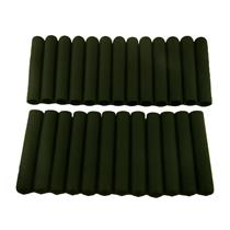 "Lot of 25 Black Soft Grips - Designed for 3/4"" Handles - Wall Thickness 1/8"""