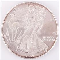 1999 US American Eagle Silver Dollar 1$ Fine Circulated Condition 31.1g / 1oz