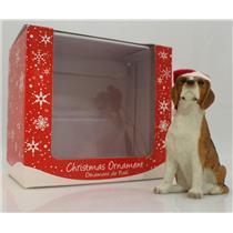 Sandicast Ornament Beagle With Santa Hat - #XSO00902