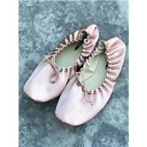 10/EU 40 NEW ZARA SATIN BALLET FLATS SHOES BALLERINAS SLIPPERS SHOES Blush Pink