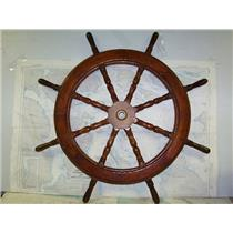 "Boaters' Resale Shop of TX 1709 1451.02 WOODEN 42"" SHIPS WHEEL FOR 1-1/4"" SHAFT"