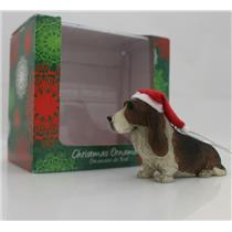 Sandicast Ornament Basset Hound With Santa Hat - #XSO07102