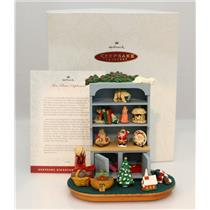 Hallmark Auto'd Event Display 1994 Mrs Claus' Cupboard with 10 Mini's - #QXC4843