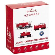 Hallmark Miniature Ornament Set 2017 Toymaker Santa Express - #QXM8115