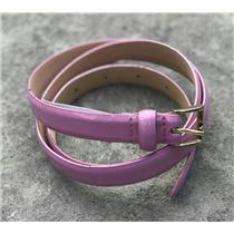 J. Crew Lavender Patent Leather Adjustable Skinny Belt Rare Bright Pastel Color