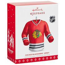 Hallmark Keepsake Ornament 2017 NHL Chicago Blackhawks Jersey - Hockey #QSR1552