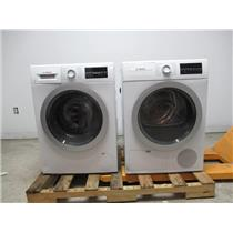 "Bosch 500 24"" Front Load Washer Dryer SET+ Stacking Kit WAT28401UC / WTG86401UC"