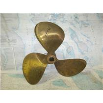 "Boaters' Resale Shop of TX 1709 2742.02 BRONZE 3 BLADE 19RH21 PROP -1-3/8"" SHAFT"