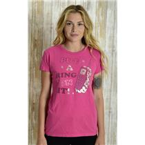"""M Loyal Army """"Put A Ring On It!"""" Cell Phone Bling Diamond T-Shirt Pink Silver"""