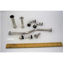 (8 Asst'd) S.S. 316L Bio-Pharm Fittings f/ Amersham BioProcessing System