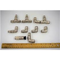 (9 Asst'd) S.S. 316L Bio-Pharm Fittings f/ Amersham BioProcessing System