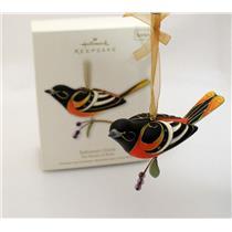 Hallmark Series Ornament 2011 Beauty of Birds #7 - Baltimore Oriole - #QX8787