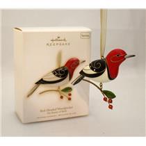 Hallmark Series Ornament 2009 Beauty of Birds #5 - Red Headed Woodpecker #QX8322